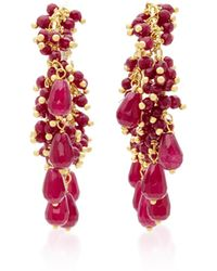 Rosantica - Pascoli Gold-tone Red Quartz Earrings - Lyst