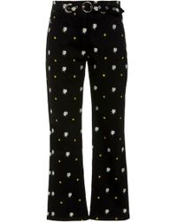 Miaou - Tommy High Waisted Cropped Skinny Jean - Lyst