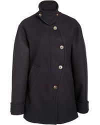 Cedric Charlier - Wool-blend Military Coat - Lyst