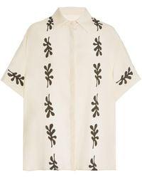 Matteau Short-sleeve Silk Shirt - Multicolour