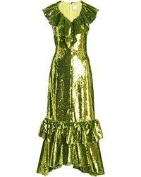 Huishan Zhang - Aerin Ruffled Sequined Gown - Lyst