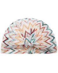 Missoni Chevron Crochet-knit Turban - Multicolour