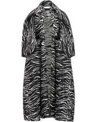 Maticevski Geranium Zebra-jacquard Coat - Black