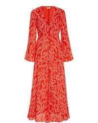 RIXO London Sonia Midi Dress - Red