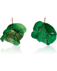 Marni | Horn Petal And Strass Earrings | Lyst