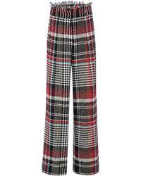 Oscar de la Renta - Tweed Wide Leg Trousers - Lyst
