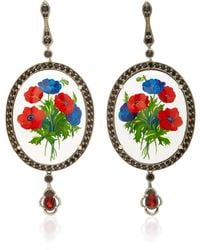 Axenoff Jewellery - Opium Silver Drop Earrings - Lyst