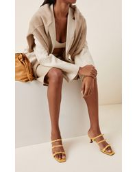 MANU Atelier Naomi Buckled Leather Sandals - Yellow