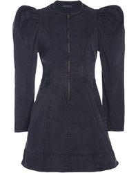 Ulla Johnson Wren Stretch Denim Dress - Black