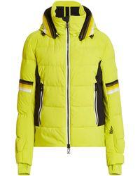Toni Sailer Mura Padded Stretch-shell Hooded Ski Jacket - Yellow