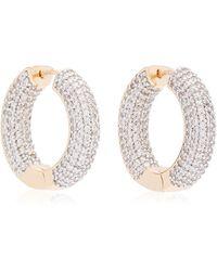 Fallon Crystal 18k Gold-plated Hoop Earrings - Metallic