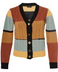 Joseph | Intarsia Striped Cardigan | Lyst