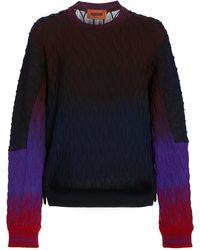 Missoni Ombre Knit Wool Sweatshirt - Multicolour