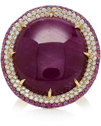 Martin Katz - One-of-a-kind 18k Star Ruby With Diamonds Ring - Lyst