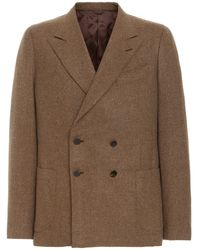 Eidos Double-breasted Wool Sport Coat - Brown