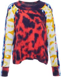Zoe Jordan - Connor Tie Dye Long Sleeve Knit - Lyst