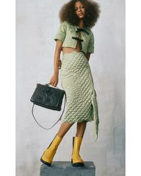Moncler Genius 1 Moncler Jw Anderson Exclusive Gonna Quilted Midi Skirt - Green
