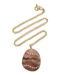 CVC Stones Haze 18k Gold, Diamond And Stone Necklace - Red