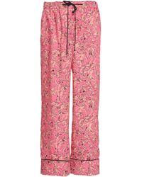 Victoria, Victoria Beckham Pyjama Piped Pant - Pink