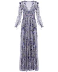 Needle & Thread Lilacs Ruffled Gown - Purple