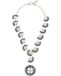 Lulu Frost Prophecy Crystal Statement Necklace - Blue