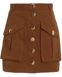 Acler Dunbar Puffed Sleeve Cropped Jacket - Brown