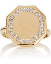 Emily & Ashley - Diamond Signet Ring - Lyst
