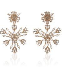 Fallon Snowflake Gold-tone And Crystal Earrings - Metallic