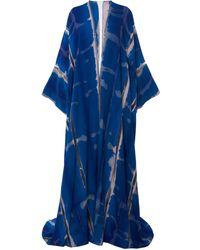 Tom Ford Oversized Tie-dyed Silk Kaftan - Blue
