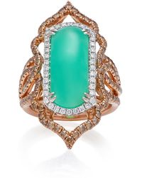 Sara Weinstock - Imperial 18k Gold, Chrysoprase And Diamond Ring - Lyst