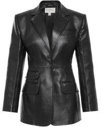 Matériel Eco-leather Blazer - Black