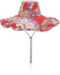 Etro - Floral-print Sun Hat - Lyst