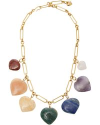 Brinker & Eliza Carpe Diem Multi-stone Heart Necklace - Multicolour