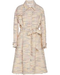 Brock Collection Porgosolo Tweed Trench Coat - Natural