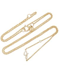 Sydney Evan 14k Gold Diamond Initial Necklace - Metallic