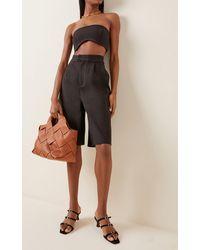 MANU Atelier Naomi Buckled Leather Sandals - Black