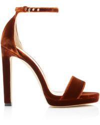 Jimmy Choo Misty Velvet Sandals - Brown