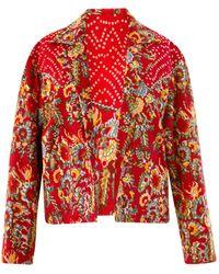 Alix Of Bohemia Dune Rosemary Print Jacket - Red