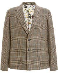 Massimo Alba Houndstooth Wool Blazer - Gray