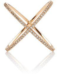 Eva Fehren 18k Gold And Diamond Ring - Pink