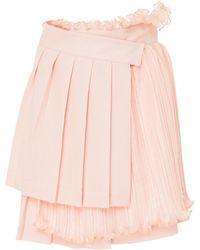 ADEAM - Pleated Mini Wrap Skirt - Lyst