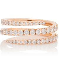 Anita Ko Diamond Coil Ring - Metallic