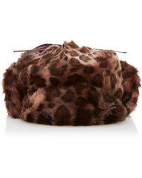 Albertus Swanepoel Leopard-print Faux Fur Hat - Brown