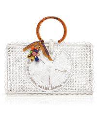 Silvia Tcherassi Riomar Iraca Palm Bag - White