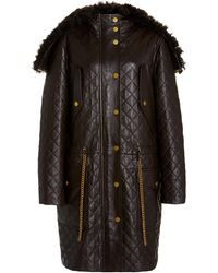 Michael Kors Plongé Quilted Leather Parka - Brown