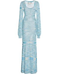 Alexis Katicia Space-dyed Knit Maxi Dress - Blue
