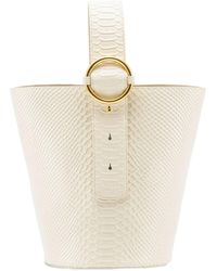 Parisa Wang Addicted Croc-effect Leather Bucket Bag - White
