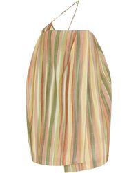 Jacquemus La Robe Soleil Striped Silk-blend Mini Dress - Pink