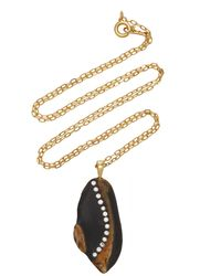 CVC Stones Justice 18k Gold, Diamond And Stone Necklace - Metallic