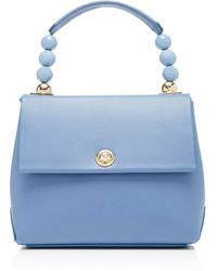 IMAGO-A No48 Carre Mini Leather Bag - Blue